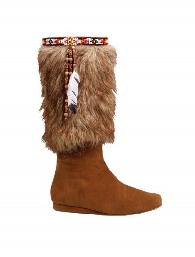 Adult Brown Indian Boots buy now