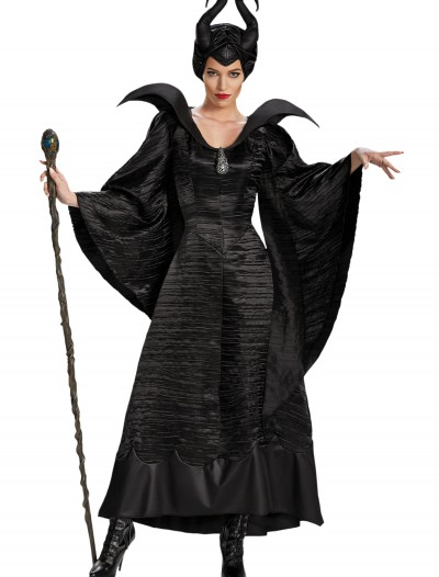 Adult Deluxe Maleficent Christening Black Gown Costume buy now
