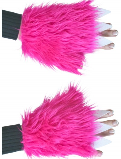 Adult Hot Pink Furry Hand Covers buy now