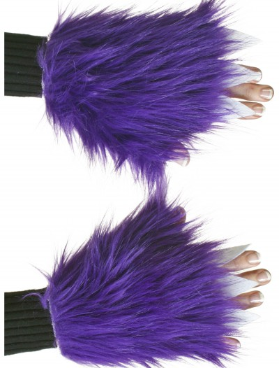 Adult Purple Fuzzy Hand Covers buy now