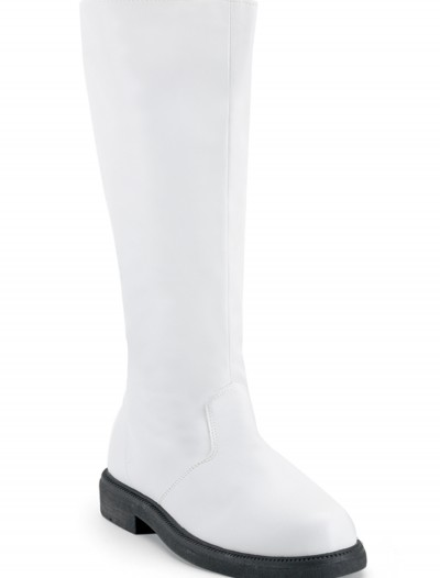 Adult White Costume Boots buy now