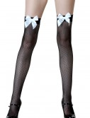 Black Fishnet / White Bow Thigh Highs buy now