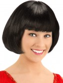 Deluxe Black Flapper Wig buy now