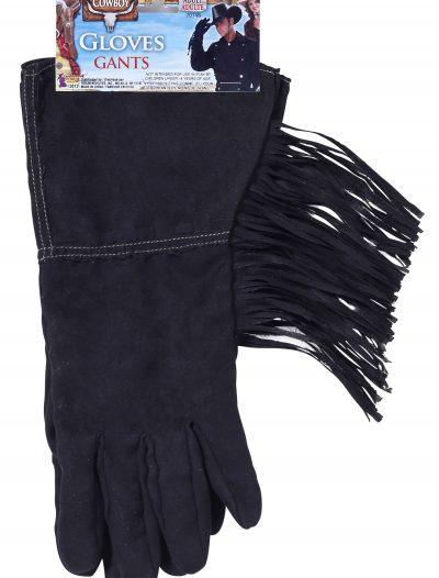 Black Fringe Cowboy Gloves buy now