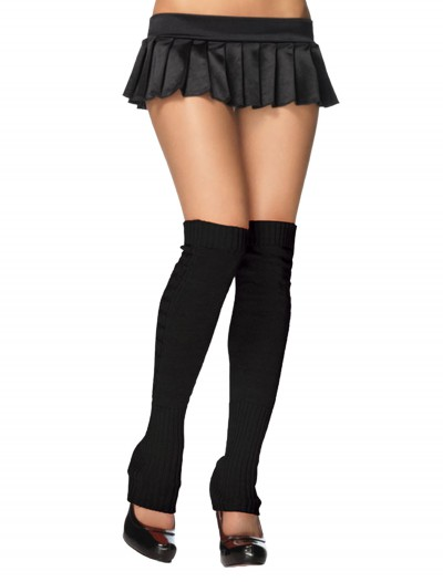 Black Ribbed Leg Warmers buy now
