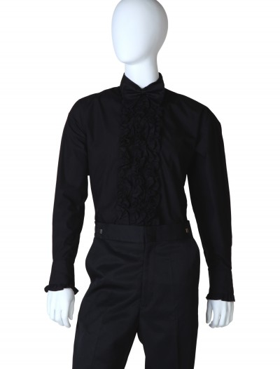 Black Ruffled Tuxedo Shirt buy now