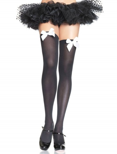 Black Stockings with White Bows buy now