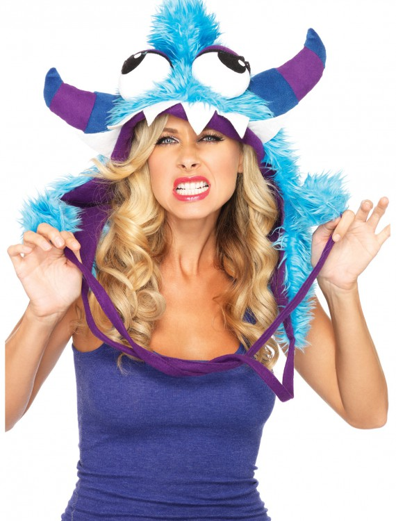 Blue Bert Furry Monster Hood buy now