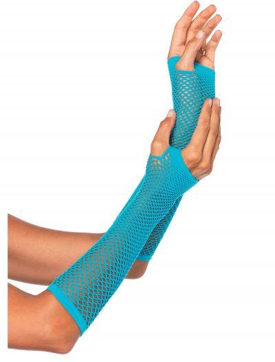 Blue Fishnet Gloves buy now