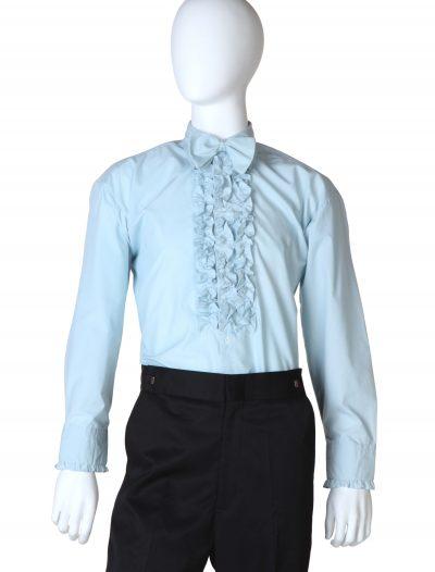Blue Ruffled Tuxedo Shirt buy now