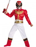 Boys Red Ranger Megaforce Classic Muscle Costume buy now