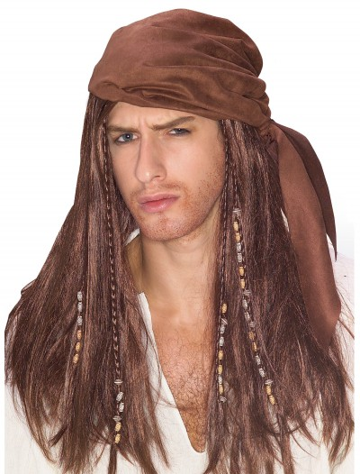 Brown Caribbean Pirate Wig buy now