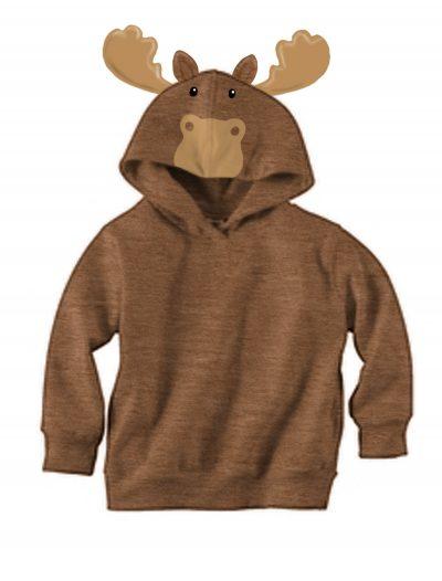Brown Moose Face Hoodie buy now