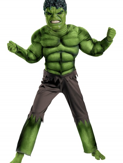 Child Avengers Hulk Muscle Costume buy now