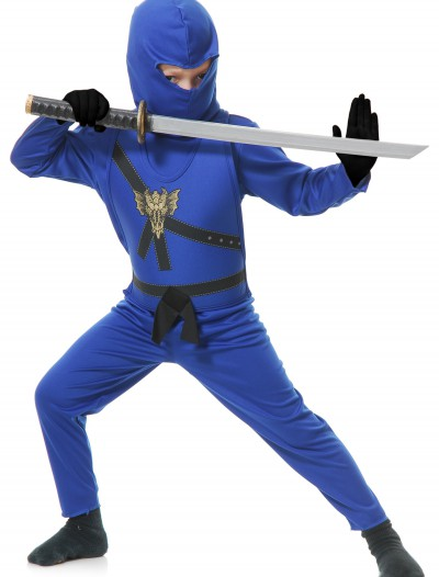Child Blue Ninja Master Costume buy now