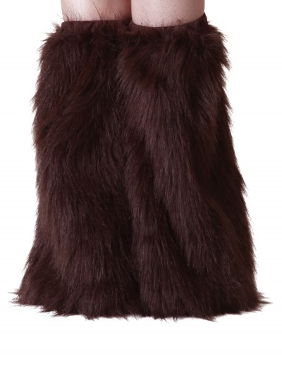 Child Brown Furry Boot Covers buy now