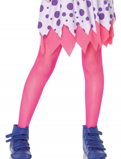 Child Neon Pink Fishnet Tights buy now