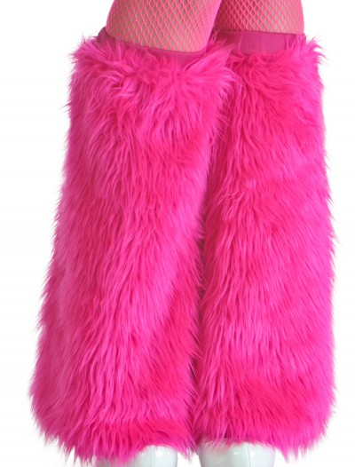 Child Pink Furry Boot Covers buy now