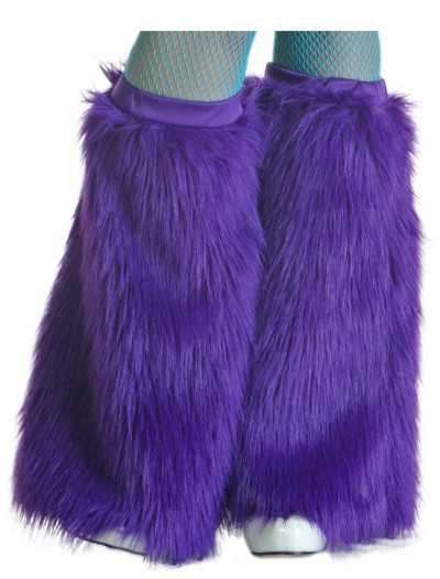 Child Purple Furry Boot Covers buy now