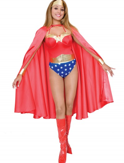 Adult Deluxe Red Superhero Cape buy now
