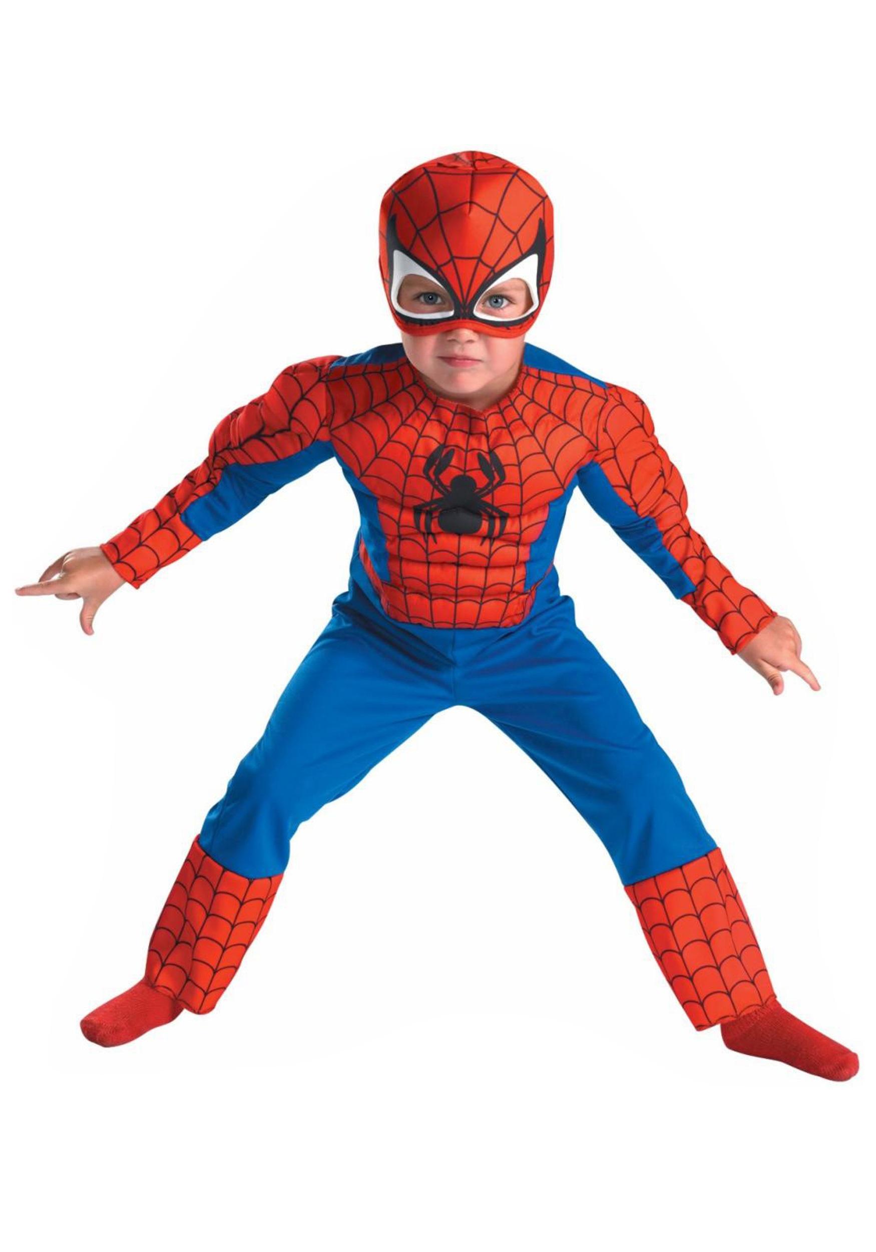 Deluxe Toddler Spiderman Costume - Halloween Costumes