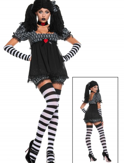 Exclusive Sexy Gothic Rag Doll Costume buy now