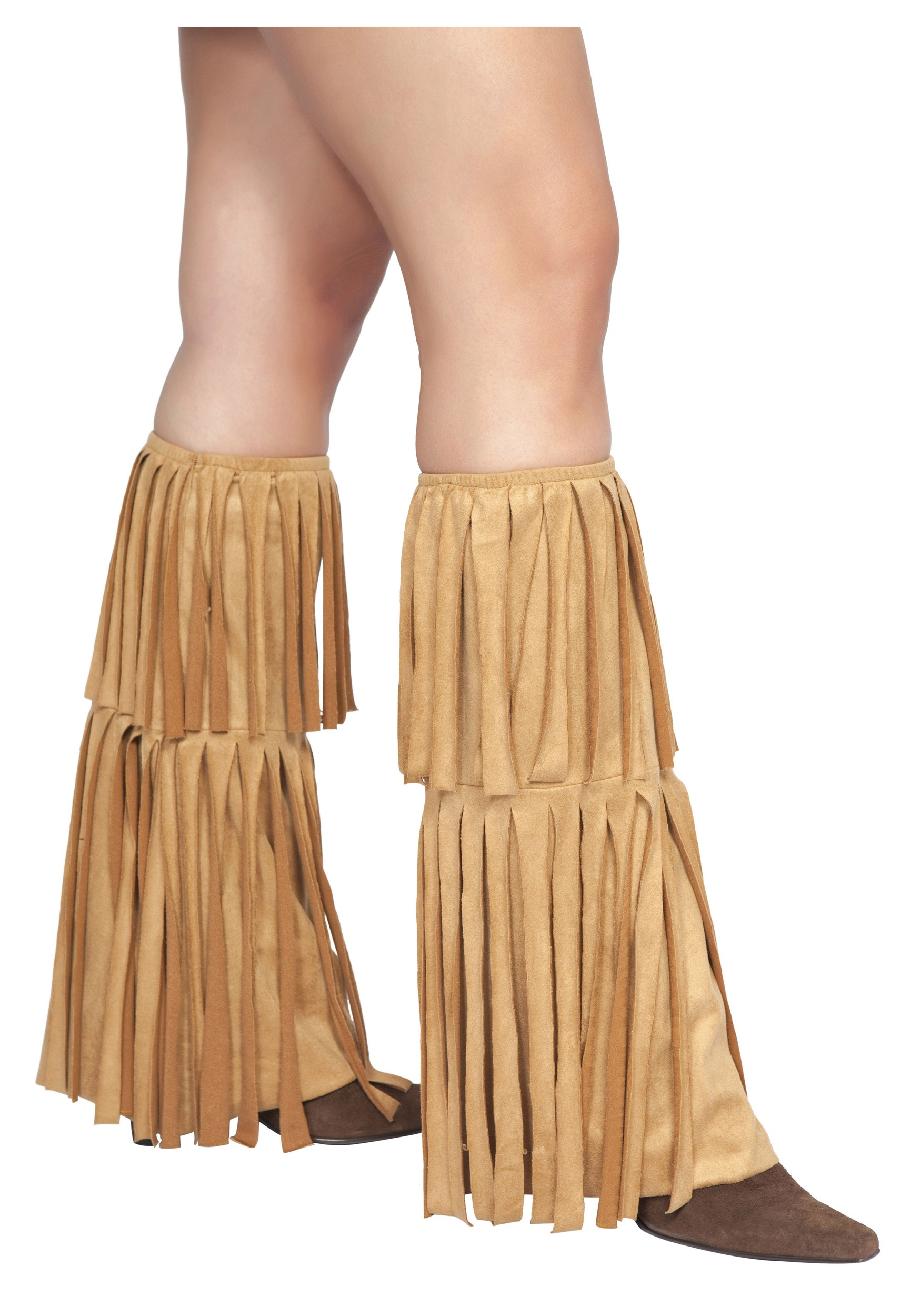 Plus Size Brown Fringed Hippie Costume