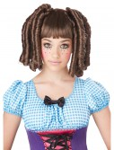 Girls Brunette Baby Doll Curls Wig with Bangs buy now