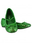 Girls Green Glitter Ballet Flats buy now