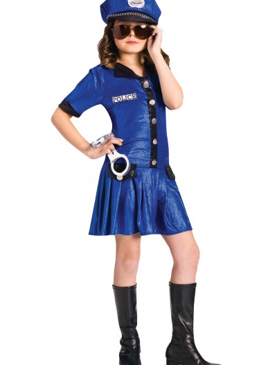Girls Blue Police Officer Costume buy now