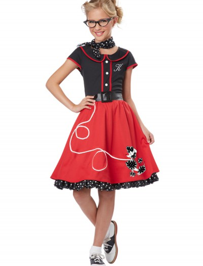 Girls Red 50s Sweetheart Costume buy now