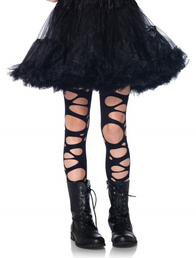 Girls Tattered Gothic Tights buy now