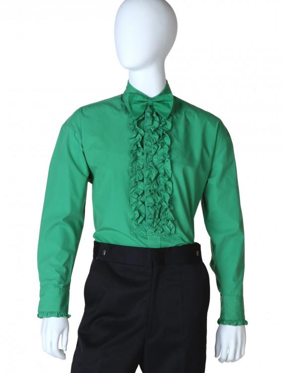 Green Ruffled Tuxedo Shirt buy now