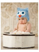 Infant Blue Yarn Owl Hat buy now