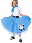 Kids Deluxe Blue Poodle Skirt Costume buy now