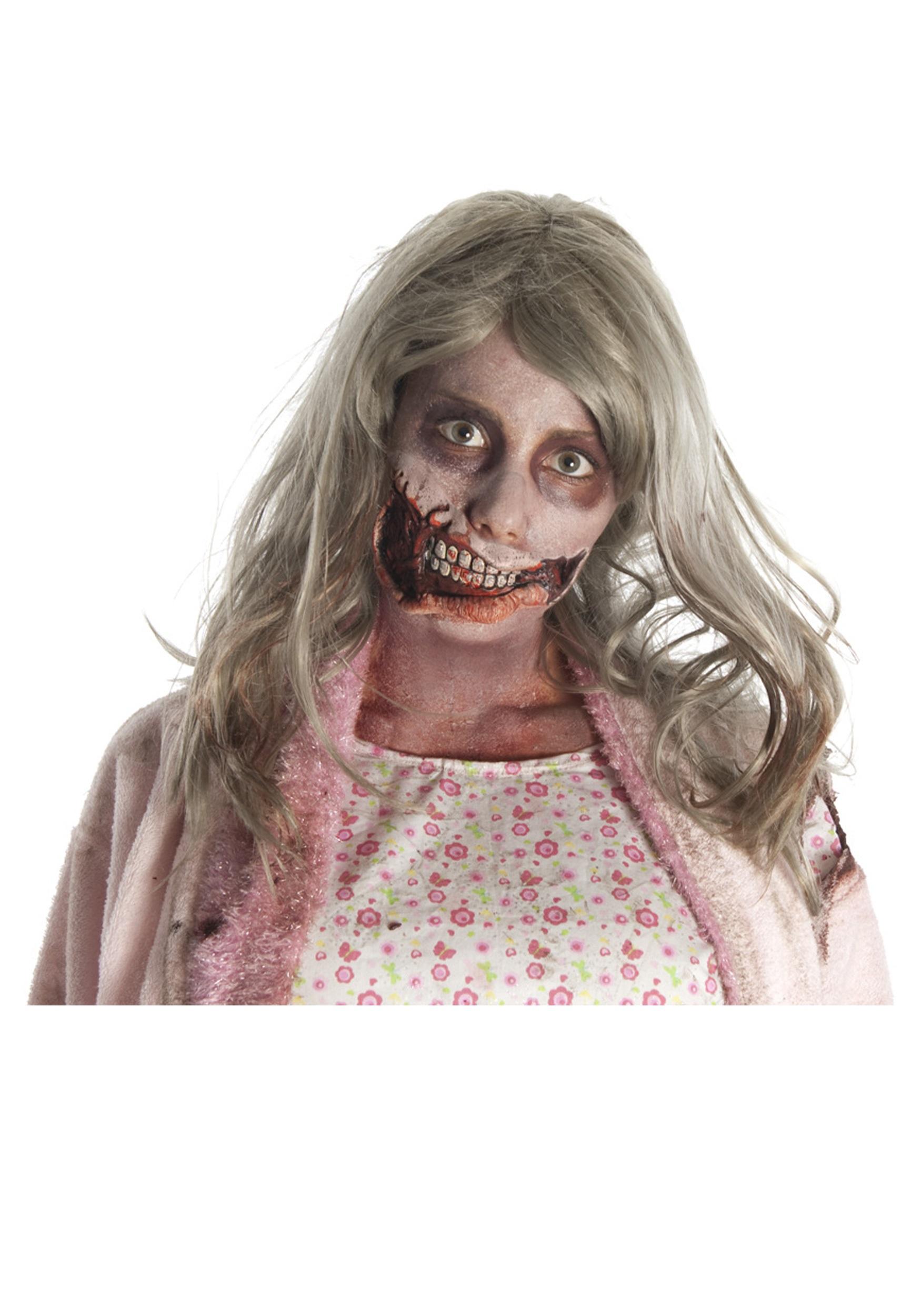 HALLOWEEN Gory Prosthetic Latex Zombie Bite Walking Dead Fancy Dress