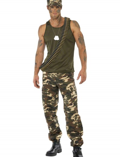 Male Khaki Camo Costume buy now