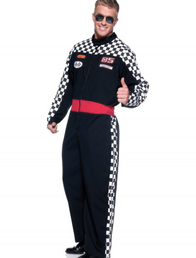 Mens Plus Race Car Driver Costume buy now