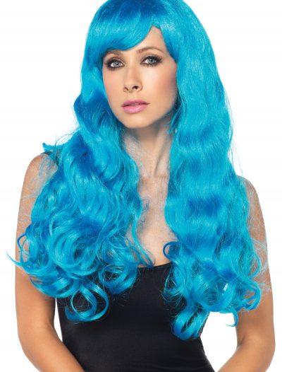 Neon Blue Long Wig buy now