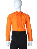 Orange Ruffled Tuxedo Shirt buy now