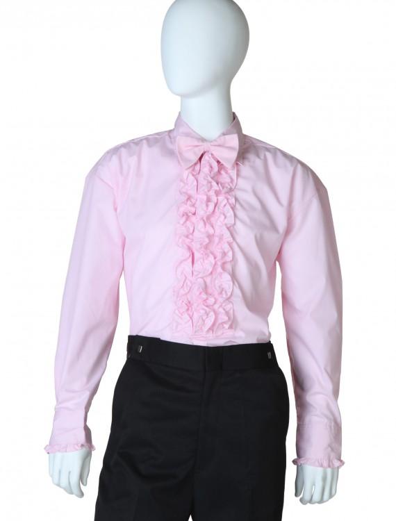 Pink Ruffled Tuxedo Shirt buy now