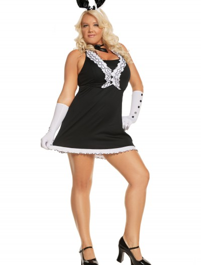 Plus Black Tie Bunny Costume buy now