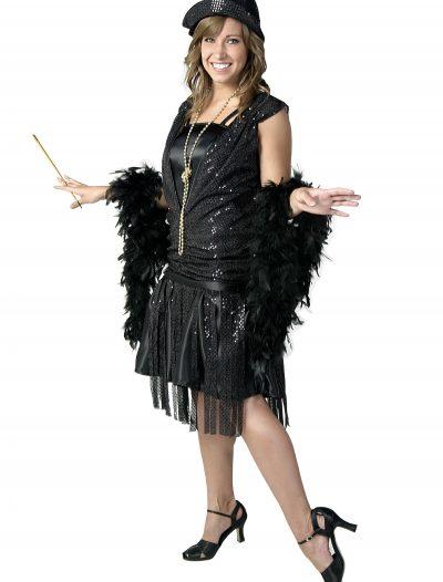 Plus Size Black Jazz Flapper Costume buy now