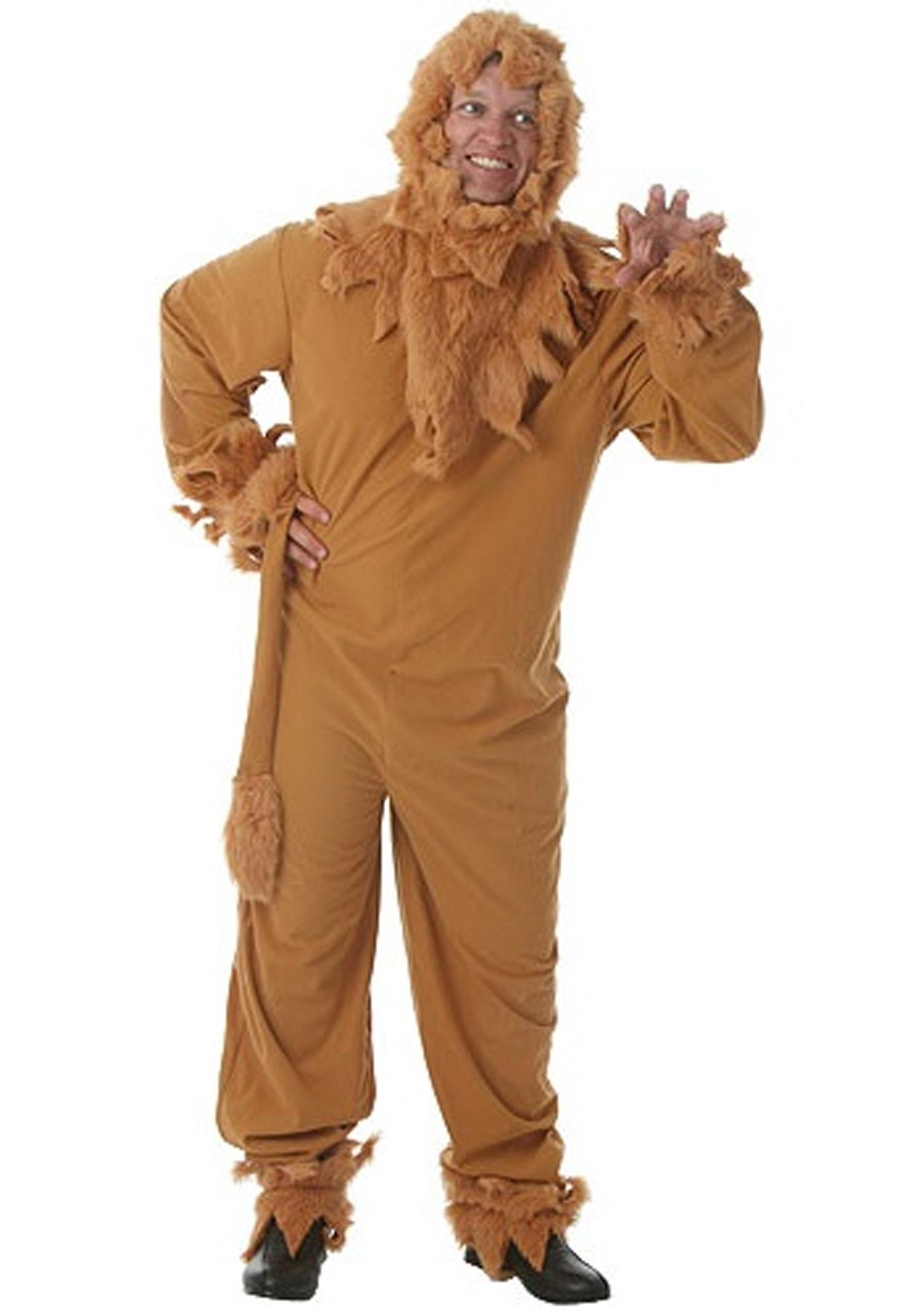 Plus Size Lion Mens Costume - Halloween Costumes