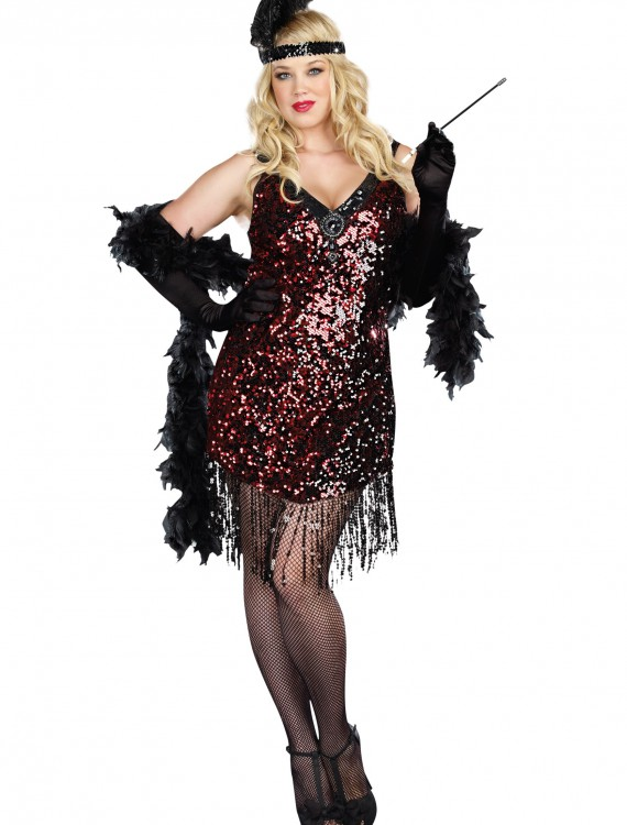 Plus Size Dames Like Us Flapper Costume buy now