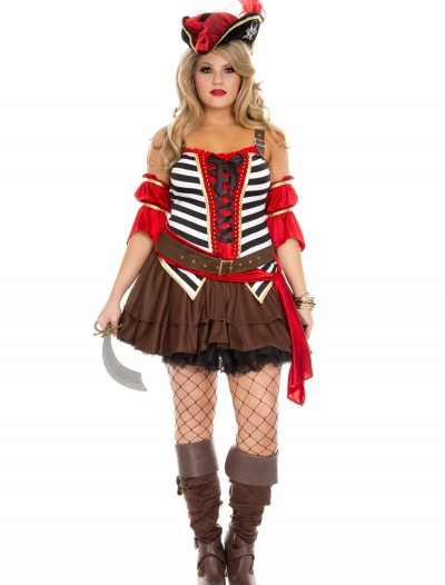 Plus Size Women's Private Pirate Costume buy now