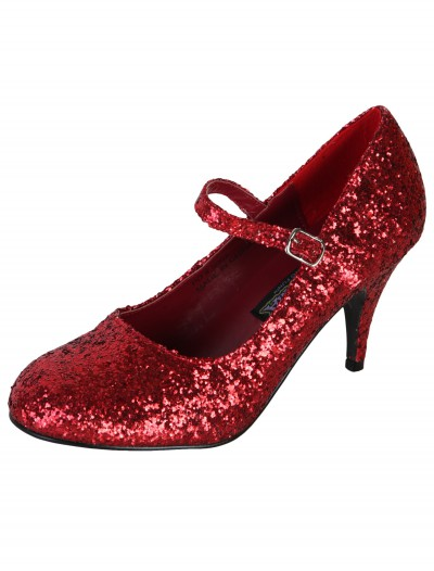 Sexy Red Glitter Shoes buy now