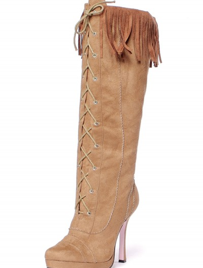Sexy Suede Fringe Boots buy now