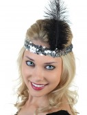 Silver and Black Flapper Headband buy now