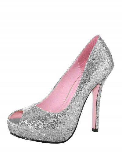 Silver Glitter Heels buy now